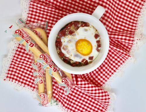 Rosquilleando: Setas con huevo y jamón
